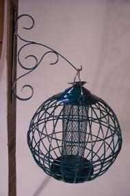 Songbird Essentials Caged Nut Feeder Round Green