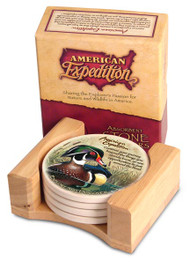 American Expedition Wood Duck Stone Coaster Set