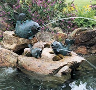Brass Baron Swimming Fish Fountain (14 in.)