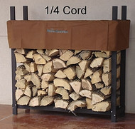 "Woodhaven Firewood Rack & Cover 4'x4'x14"" Brown"