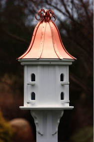 Fancy Home Products Birdhouse Bright Copper Curly Roof BH14-8-BC CURLY