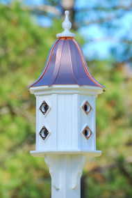 Fancy Home Products Birdhouse Bright Copper Bell Roof BH14-8CP-BC BELL