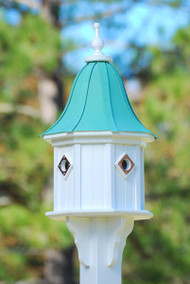 Fancy Home Products Birdhouse Patina Copper Bell Roof BH14-4CP-PC BELL
