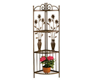 Deer Park Ironworks Floral and Vase Corner Rack