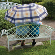 Laura Ashley Couples Umbrella Mitford Check Charcoal Biscuit