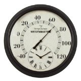 Luster Leaf Lincoln Thermometer with Clock 20057
