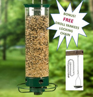 Droll Yankees Flipper Squirrel Proof Bird Feeder YF Bonus FREE Droll Yankee Locking Chain  LC18