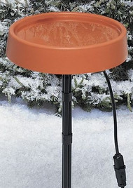 "Allied Precision Heated Birdbath 12"" with Metal Stand"