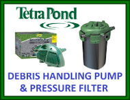 TETRA POND DEBRIS HANDLING PUMP DHP 3600 & BEAD PRESSURE FILTER BP 1500 9W UV 	 TETRA POND DEBRIS HANDLING PUMP DHP 3600 & BEAD PRESSURE FILTER BP 1500 9W UV