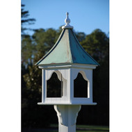 "Fancy Home Products Square Bird Feeder Patina Copper 14"" BF14-SQ-PC"