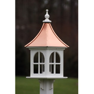 "Fancy Home Products Square Bird Feeder w/ Windows Bright Copper 12"" BF12-SQ-BC"