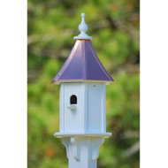 "Fancy Home Products Blue Bird House w/ Perch Bright Copper 10"" BH10-BC-PERCH"