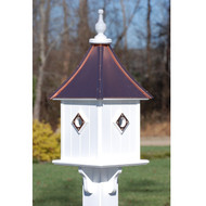 "Fancy Home Products Square Bird House Bright Copper 10"" BH10-SQ-4CP-BC"