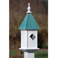 "Fancy Home Products Blue Bird House Patina Copper 8"" BH8-PC"