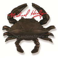 Michael Healy Blue Crab Door Knocker in Oiled Bronze MH1154