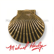Michael Healy Bay Scallop Doorbell Ringer in Brass MHR06
