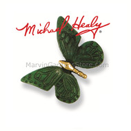 Michael Healy Monarch Butterfly Doorbell Ringer in Brass/Green Patina MHR18