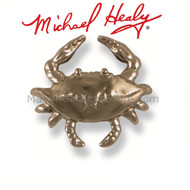 Michael Healy Blue Crab Doorbell Ringer in Nickel Silver MHR47