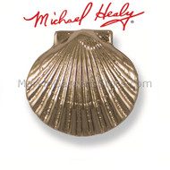 Michael Healy Bay Scallop Doorbell Ringer in Nickel Silver MHR62