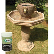 Smart Solar Milano Lions Head Two Tier Solar Water Fountain PLUS Fountain Fresh