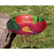 Evergreen Summer Song Glass Birdbath EG2GB111