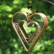 """Good Directions Heart Fly Thru Bird Feeder Venetian Bronze 15""""x13"""" 113VB"""