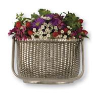 Michael Healy Nantucket Basket Door Knocker in Nickel Silver MH1523