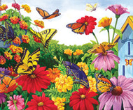 SunsOut Puzzle Butterfly Garden Mini 100 pcs