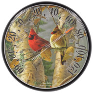 Accurite James Hautman 12 1/2 inch In/Outdoor Cardinals Thermometer