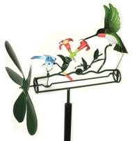 Blue Handworks Hummingbird & Dragonfly Whirligig