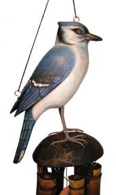 Cohasset Imports Blue Jay Wind Chime