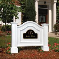 Mayne Nantucket Address Sign in White