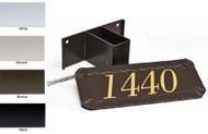 Gaines Standard Post Address Plaque (4 Colors Available)