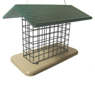 BIRDS CHOICE SEED & SUET BLOCK FEEDER BIRD FEEDER