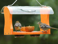 BIRDS CHOICE RECYCLED ORIOLE FEEDER BIRD FEEDER SNOF