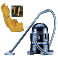 "Matala Muck Buster Pond Vac II MTLVAC  Uses a single-chamber suction system. This means that the vacuum fills with material removed from the pond and then automatically shuts off via an internal float and drains via gravity. The vacuum will typically fill in 20-40 seconds and then discharge in 20-30 seconds. This type of vacuum is only suitable for small applications and will require some patience due to the on/off cycle.  The Matala Pond Vac II, also known as the MuckBuster, offers a 2 H.P. motor made with the highest quality German manufactured components. Suction tests were four times more powerful than its competition with a suction lift 5' above water.      Collection container with motor casing and 16 ft cable.     8 ft. discharge hose with integrated blocking flap.     16 ft. suction hose     5 extension tubes.     Adjustable floor nozzles (for particle size 1/10"",.1/5"",3/8"")     1 Sludge collection bag."