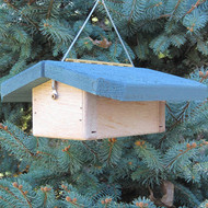 """Nature Products The Nuthatch Peanut Bird Feeder 2280 9""""x10""""x4"""" Blue Roof"""