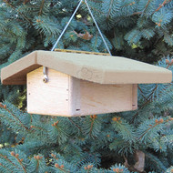 """Nature Products The Nuthatch Peanut Bird Feeder 2280 9""""x10""""x4"""" Natural Roof"""