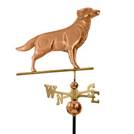 Good Directions Golden Retriever Weathervane - Polished Copper 644P