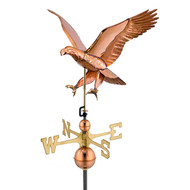 Good Directions Attack Eagle -Weathervane - Polished Copper 659P