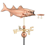 Good Directions Bass with Lure Weathervane - Polished Copper 9602P