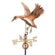 Good Directions Landing Duck Weathervane - Polished Copper 9605P