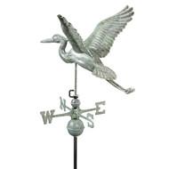 Good Directions Blue Heron Weathervane - Blue Verde Copper 9606V1