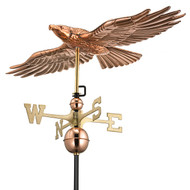Good Directions Soaring Hawk Weathervane - Polished Copper 9699P