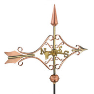 Good Directions Victorian Arrow Garden Weathervane - Polished Copper w/Roof Mount   8842PR