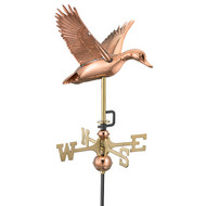 Good Directions Flying Duck Garden Weathervane - Polished Copper w/Garden Pole  8844PG