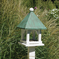 Lazy Hill Farm Designs Mini Bird Feeder with Blue Verde Copper Roof 43524
