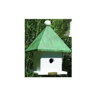 Lazy Hill Farm Designs Mini Bird House with Blue Verde Copper Roof 43423