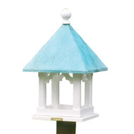 Lazy Hill Farm Designs Square Bird Feeder with Blue Verde Copper Roof 43501