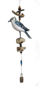 Cohasset Imports Blue Jay Bell Wind Chime